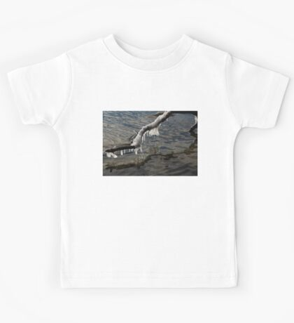 Merry Icicle Reflections in Lake Ontario, Toronto, Canada Kids Tee
