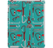 Climbing Equipment Design Pattern iPad Case/Skin