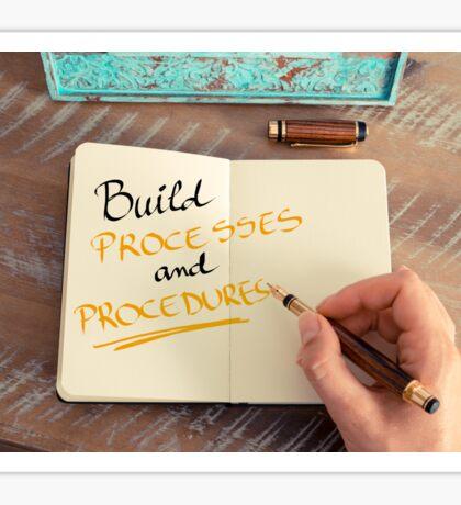 Build Processes and Procedures Sticker