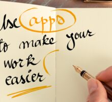 Use Apps to Make Your Work Easier Sticker