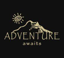 Adventure Awaits - Mountain and Sun ( Light Version)  Baby Tee