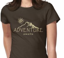 Adventure Awaits - Mountain and Sun ( Light Version)  Womens Fitted T-Shirt