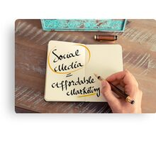 Social Media is Affordable Marketing Canvas Print