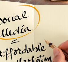 Social Media is Affordable Marketing Sticker