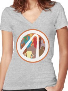 Borderlands Character Design Women's Fitted V-Neck T-Shirt