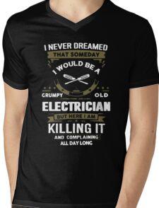 Grumpy Old Electrician Mens V-Neck T-Shirt