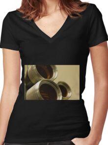 Through the Lens Women's Fitted V-Neck T-Shirt