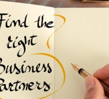 Find The Right Business Partners Sticker