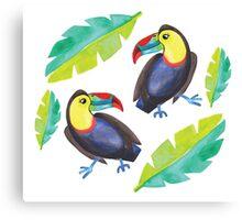 Toucans dancing Canvas Print