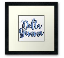 Delta Gamma Framed Print