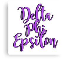 Delta Phi Epsilon Canvas Print