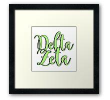 Delta Zeta Framed Print