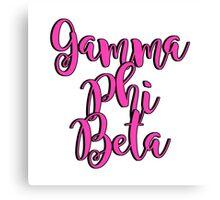 Gamma Phi Beta Canvas Print