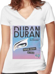 Duran Duran Paper Gods on Tour Women's Fitted V-Neck T-Shirt