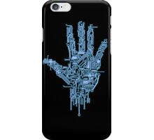 Neon Blue Circuit iPhone Case/Skin