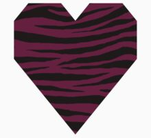 0505 Pansy Purple Tiger Baby Tee