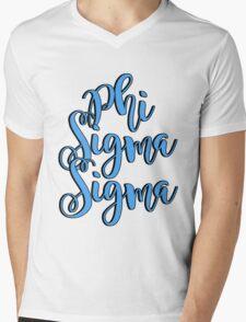 Phi Sigma Sigma  Mens V-Neck T-Shirt