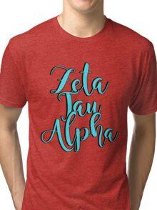 Zeta Tau Alpha Tri-blend T-Shirt