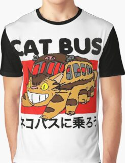 Cat Bus Graphic T-Shirt