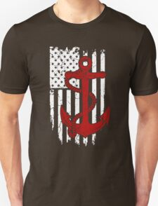 Navy Red Flag T-Shirt