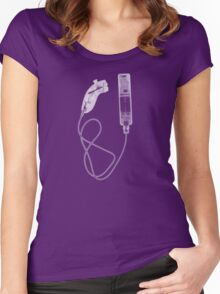 Nintendo Wii Controllers - X-Ray Women's Fitted Scoop T-Shirt