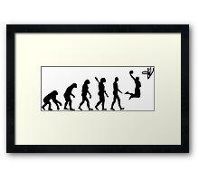basketball evolution Framed Print