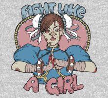 Fight Like A Girl - Chun Li (Street Fighter) One Piece - Long Sleeve