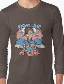 Fight Like A Girl - Chun Li (Street Fighter) Long Sleeve T-Shirt