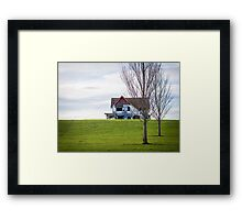 Abandoned House On The Hill Framed Print