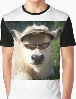 cow with sunglasses Graphic T-Shirt