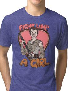 Fight Like A Scavenger (Fight Like A Girl) Tri-blend T-Shirt