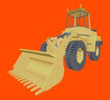 Bulldozer 3D projection Kids Tee