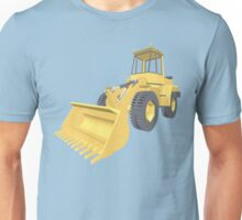 Bulldozer 3D projection Unisex T-Shirt
