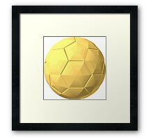 soccer ball gold Framed Print