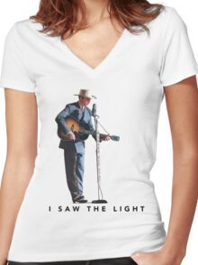 i saw the light film Women's Fitted V-Neck T-Shirt