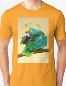 I see you. Sly Parrot Photo Unisex T-Shirt