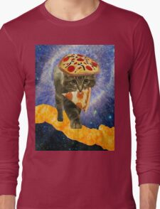 pizza cheetos cat Long Sleeve T-Shirt