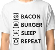 Bacon Burger Sleep Repeat Classic T-Shirt