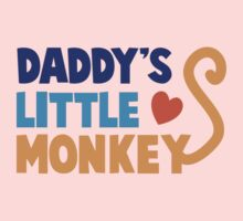 Daddy's little monkey Kids Tee