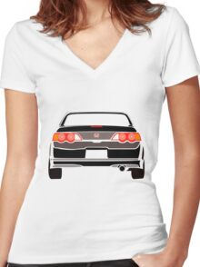 DC5 Rear Women's Fitted V-Neck T-Shirt