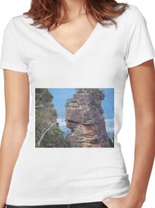 The Three Sisters Blue Mountains NSW Australia [up close and personal] Women's Fitted V-Neck T-Shirt