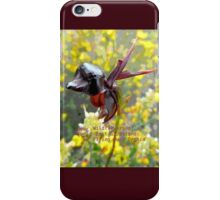 Wildflowers of East Gippsland: Flying Duck Orchid iPhone Case/Skin