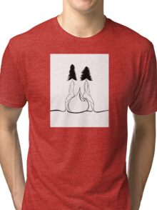 Trees On a Water Drop Tri-blend T-Shirt