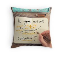 Handwritten text Is your Website SEO optimized ? Throw Pillow