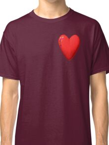 three-dimensional model of the heart valentines Classic T-Shirt