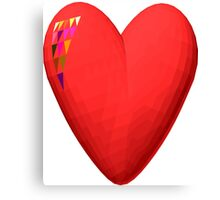 three-dimensional model of the heart valentines Canvas Print