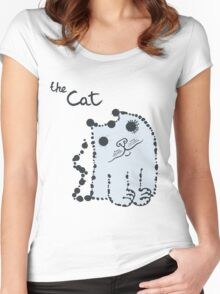 Funny cute ink splashes cats. Women's Fitted Scoop T-Shirt