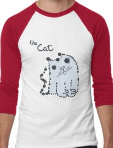 Funny cute ink splashes cats. Men's Baseball ¾ T-Shirt