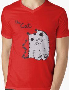 Funny cute ink splashes cats. Mens V-Neck T-Shirt
