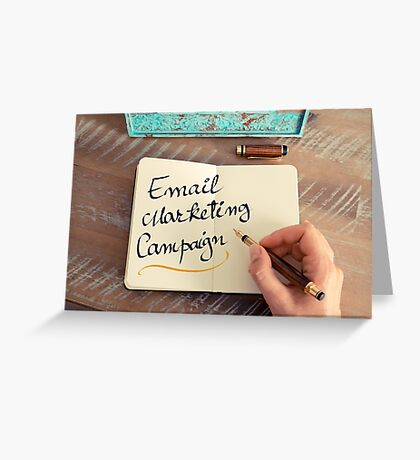 Handwritten text Email Marketing Campaign Greeting Card